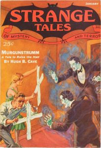 Strange Tales of Mystery and Terror, January 1933. Cover art by H.W. Wesso.